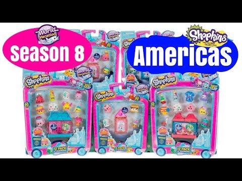 Shopkins Season 8 AMERICAS World Vacation USA Mexico Canada Brazil American Vacay Limited Edition LE