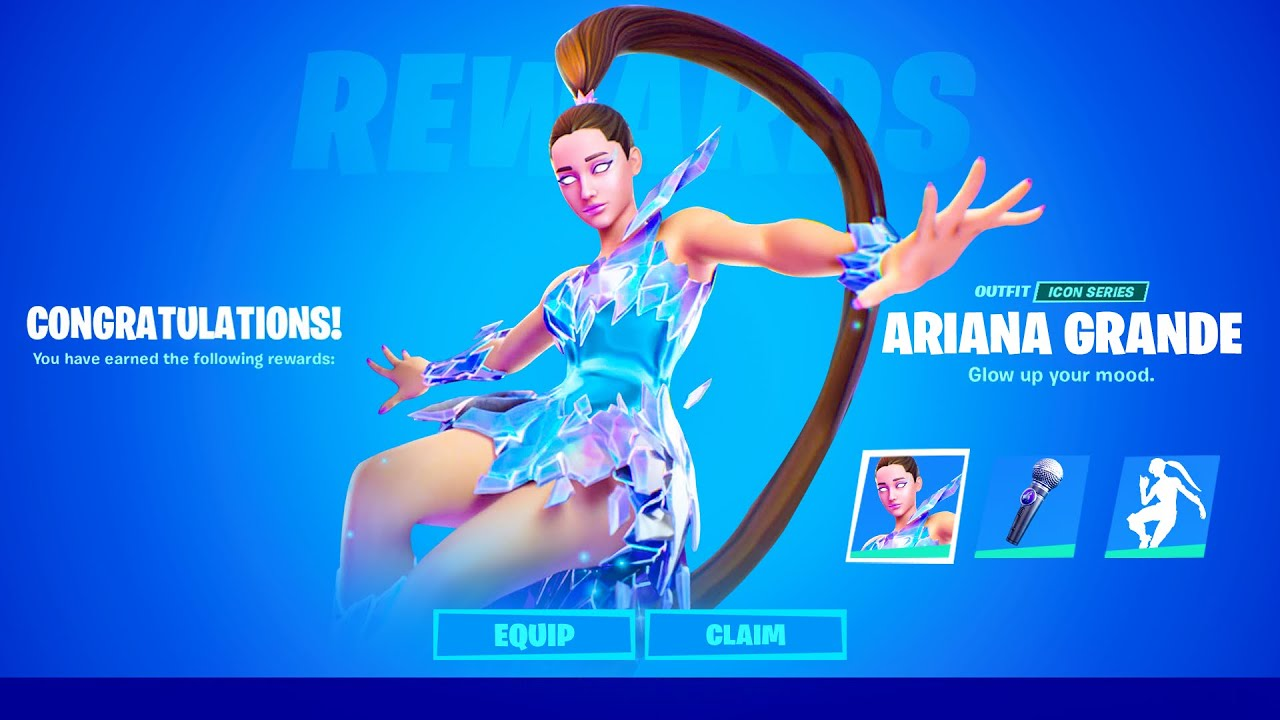 Download Say Hello To Ariana Grande In Fortnite (Live Event Concert)