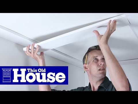 How to build a coffered ceiling this old house youtube for Foam coffered ceiling