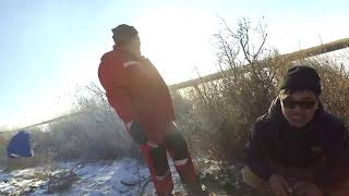 Рыбалка в Казахстане на жерлицы. Жареная рыба на озере в январе. Сели на пузо