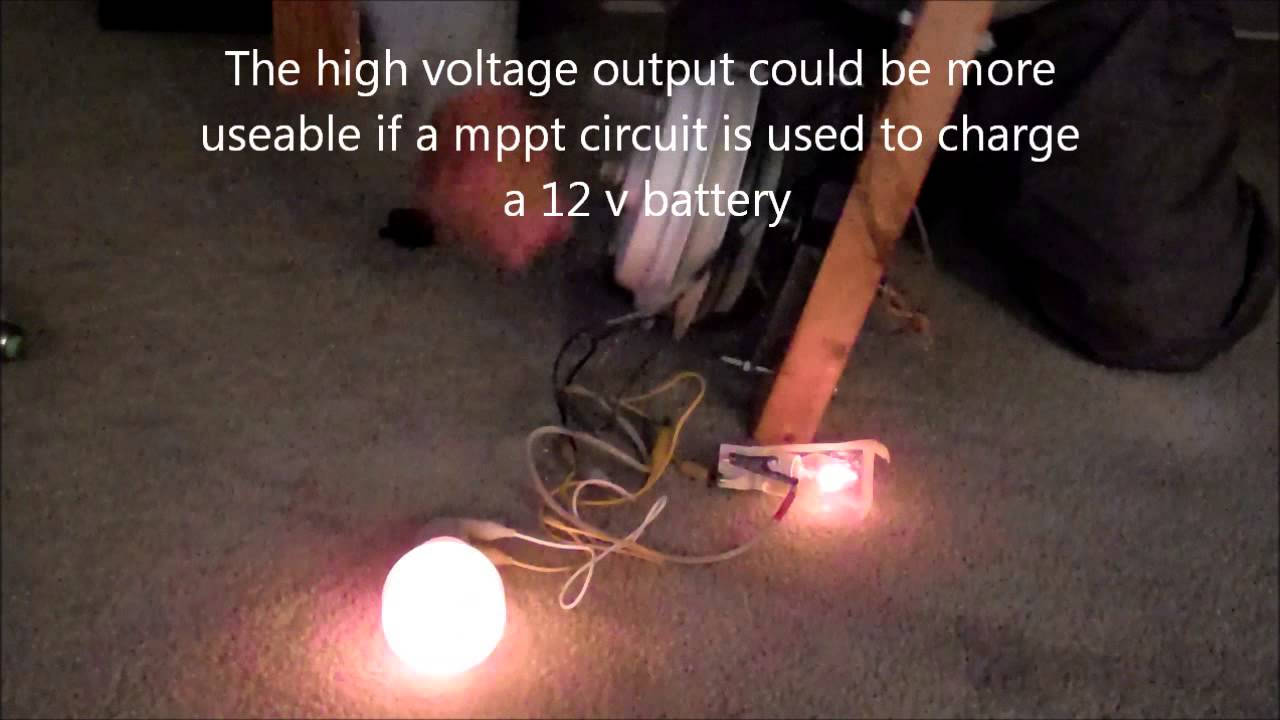 Using a converted ceiling fan motor as a hand cranked battery using a converted ceiling fan motor as a hand cranked battery chargerwmv youtube aloadofball Gallery