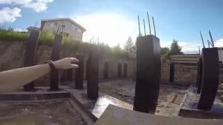 Обзор итога строительства железобетонного фундамента загородного дома(, 2015-08-02T13:47:40.000Z)