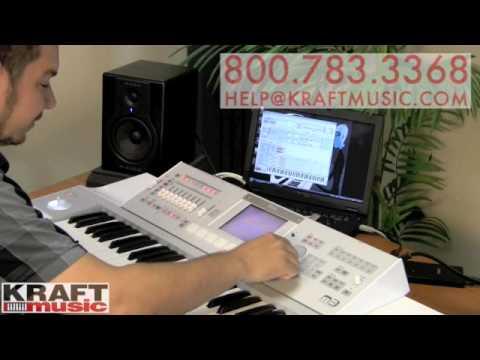 Kraft Music - Korg M3 Workstation Demo with Rich Formidoni
