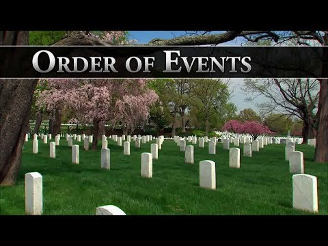 Order of Events of a Funeral Service at Arlington National Cemetery