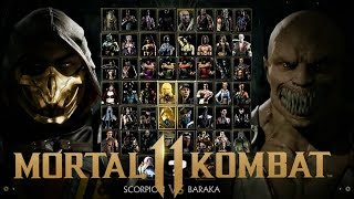 Mortal Kombat 11 Ultimate Edition Full Character Roster With DLC WishList