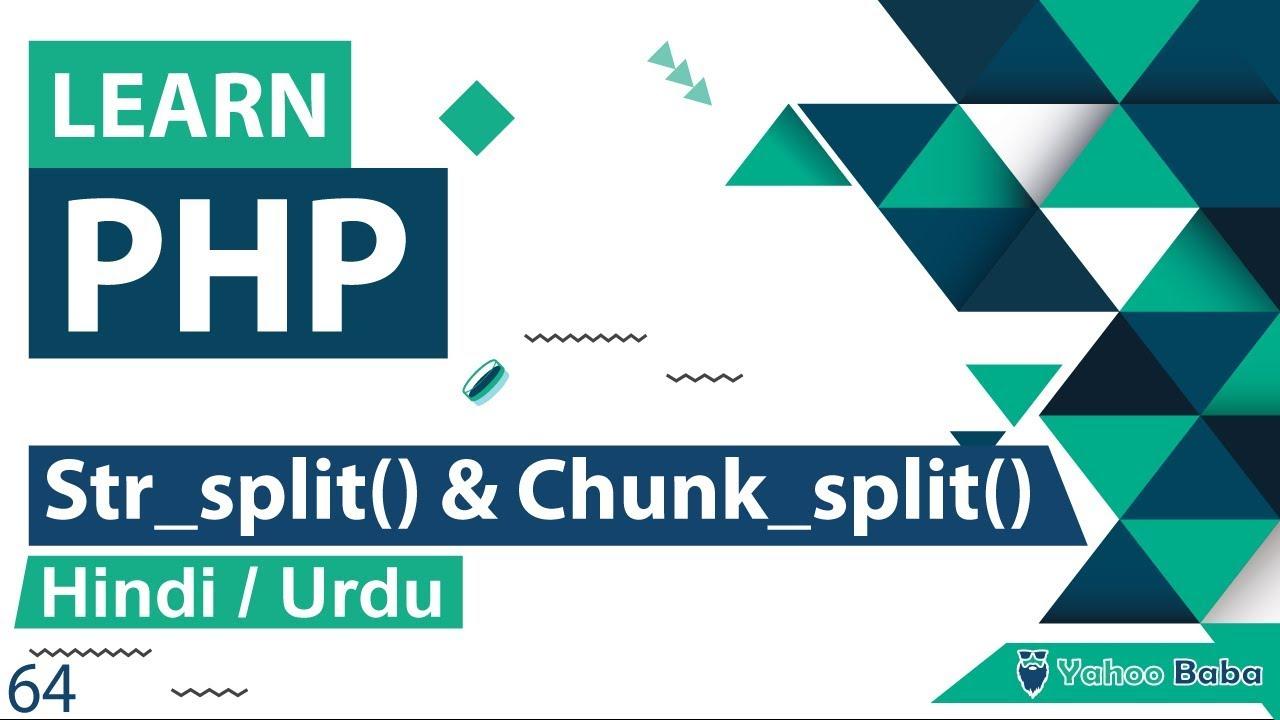 PHP String Str_split & Chunk_split Function Tutorial in Hindi / Urdu