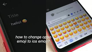 Download How To Change Oppo A3s Emoji Ios Themed MP3, MKV