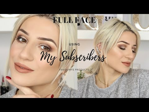 TRYING MY SUBSCRIBERS FAVOURITE MAKEUP PRODUCTS! || GIO DREVELI ||