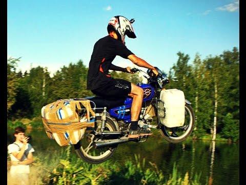 Что будет если прыгнуть на мотоцикле с трамплина в воду