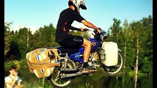 видео На мотоцикле по воде (Утопили мото) /motorcycle on water
