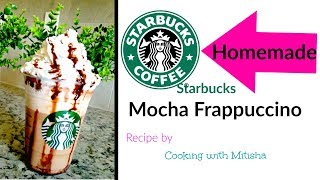 Homemade STARBUCKS MOCHA FRAPPUCCINO  Mocha Frappuccino Recipe  DIY Starbucks Recipe