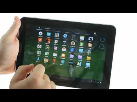 Samsung Galaxy Tab 8.9 UI demo