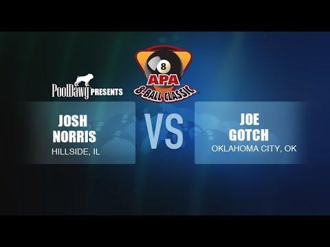 2018 APA 8-Ball Classic Finals - Joe Gotch VS Josh Norris -  Orange Tier