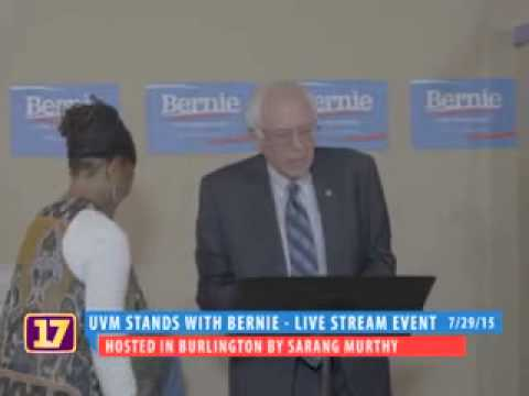 University of Vermont Students Stand with Bernie on July 29