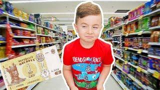 Alex si 1 Leu la supermarket