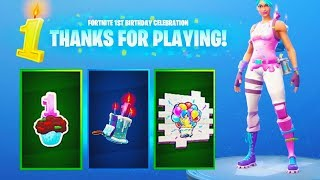 The FREE Birthday Items UNLOCKED! - NEW Birthday Challenges Completed (Fortnite Birthday Challenges)