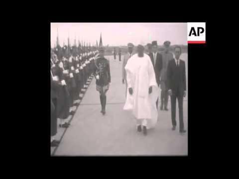 Niger Histoire : president Diori Hamani au Maroc en 1967
