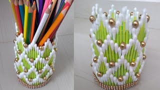 Cotton buds craft | Best reuse idea | 121