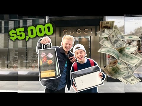 GUCCI BUY ANYTHING CHALLENGE w/ Carson Lueders