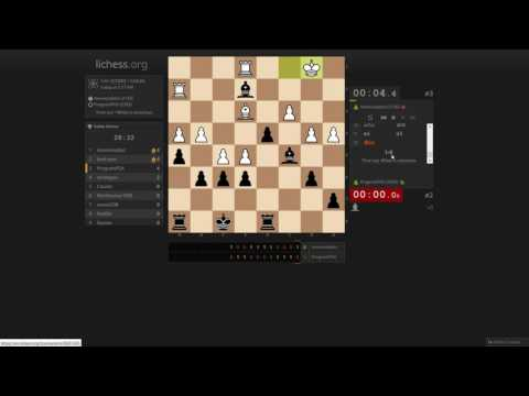Bullet atomic chess tournament on lichess.org (streamed)