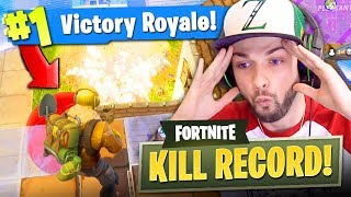 *NEW* KILL RECORD in Fortnite: Battle Royale!