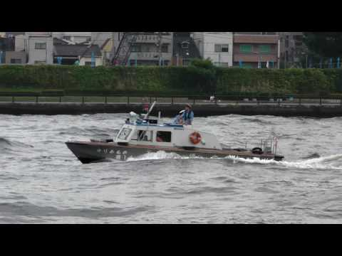 Tokyo M.P.D. police boats and F.D.'s fireboats 警備艇と消防艇の隊列