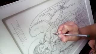 2)Продавливание рисунка .Иконопись. Мерная икона Архангела Михаила .