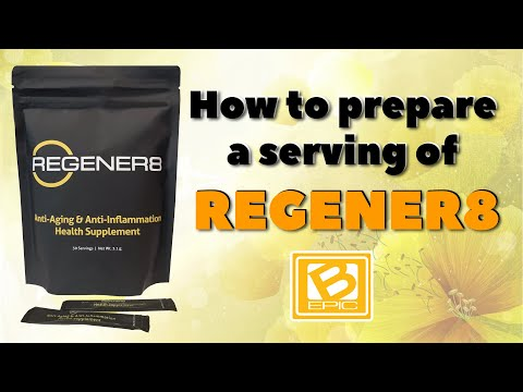 Regener8 by B-Epic: how to make a serving