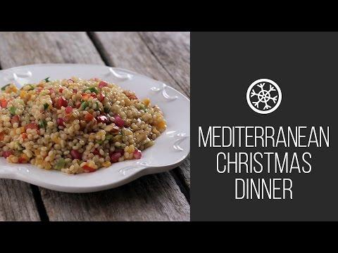 Israeli Couscous || Mediterranean Christmas Dinner || Christmas \u0026 New Tear 2015 Recipes