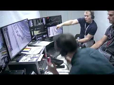 Mark Webber screams when Hamilton locks up...