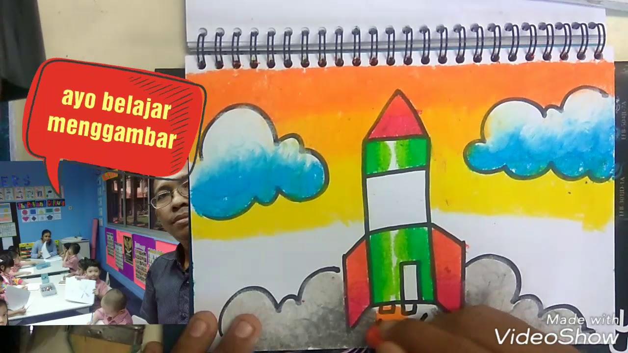 Gampangcara Menggambar Roket Di Ruang Angkasa Cara Mewarnai Roket