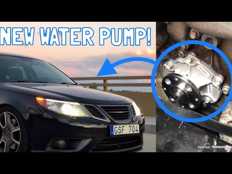 Saab 9-3 Turbo X (V6) Water Pump Replacement