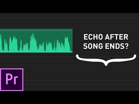 How To END A Song With ECHO/REVERB In Premiere Pro