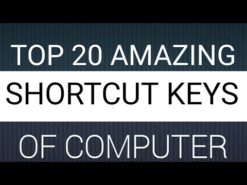 Computer Keyboard Shortcut Keys To Become Master | Amazing 20 Shortcut Keys