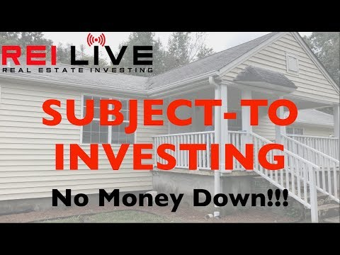 Buying a house SUBJECT TO existing financing