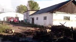 Ещё один пожар произошел на базе бывшего АТП в Усть-Куте