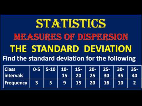2. Find The Standard Deviation For The Given Distribution