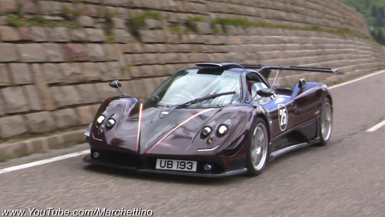 Supercars Accelerating! - Pagani Zonda 760, Huayra, Carrera GT, 599
