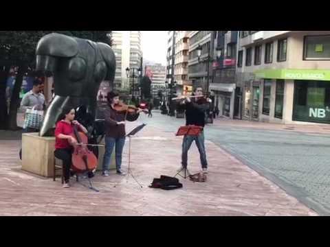 Musica en las calles de Oviedo
