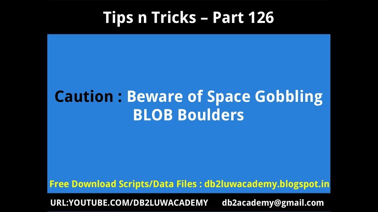 Tips n Tricks Part 126 - Caution: Beware of Space Gobbling