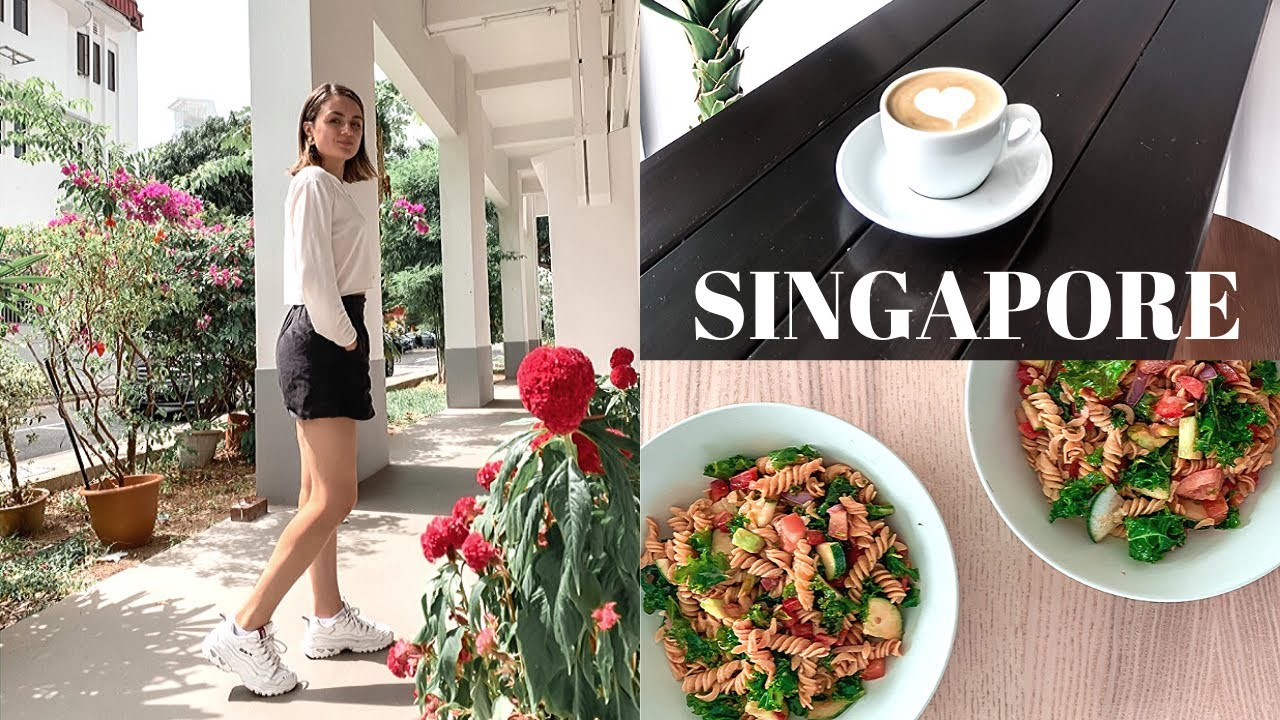 WEEKLY VLOG: Cook With Me, Vegetarian In Singapore + Coffee Shops!