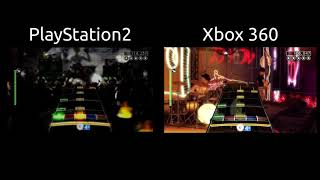 Rock Band 1 PS2 vs. Xbox 360 Comparison