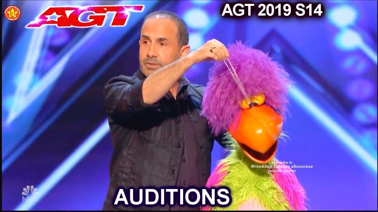 Michael Paul Ventriloquist & Pooping Bird Puppet Willie AWESOME| America's Got Talent 2019