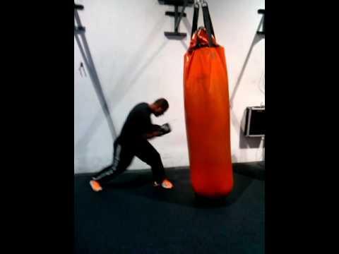 Nauru boxing punching the evybag
