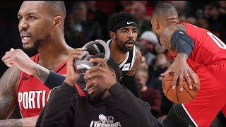 DAME DROPS CAREER HIGH ON KYRIE'S HEAD! Brooklyn Nets vs Portland Trail Blazers Highlights