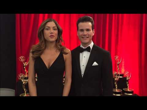 Fernando Duran & Hilary Cruz Trophy presenters  44th Daytime Emmy Awards