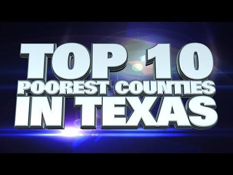 Top 10 Poorest Counties in Texas 2014
