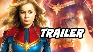 Captain Marvel Official Trailer - Avengers 4 Easter Eggs