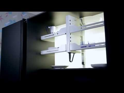 Shelf lift Pegasus - for high overhead wall cupboards from peka