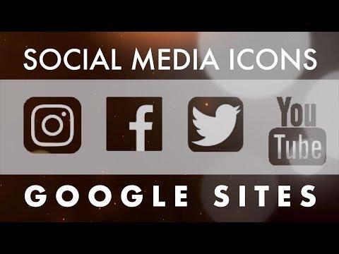 Google Sites: Insert Social Media Buttons!!